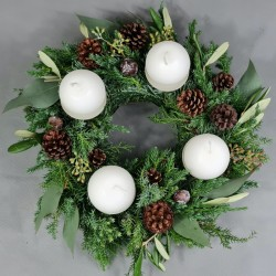 Advent wreath Forest greenery