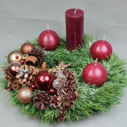 Advent wreath Bordeaux