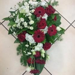 Funeral arrangement - white...
