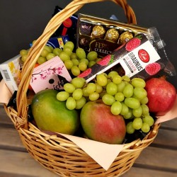 Fruit Basket with sweets