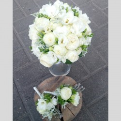 Bridal bouquet of white...