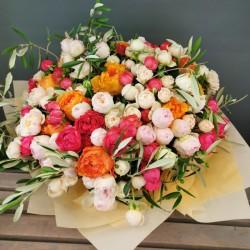 Flower bouquet with spray...