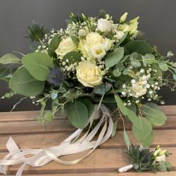 Bridal bouquet in white