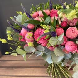 Flower bouquet bright pink