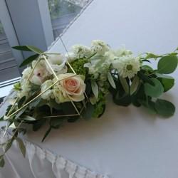 Wedding flower decor on the...