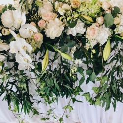 Hanging wedding flower...