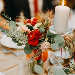 Wedding table bouquet with...