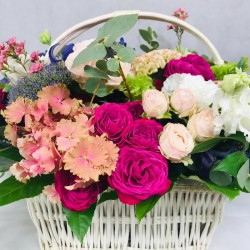 Flower basket with...