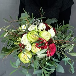 Bouquet with eucalyptus