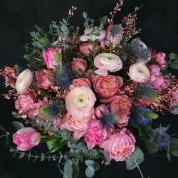 Rozā ziedu maigums