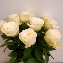 Белые розы 40/60/70см