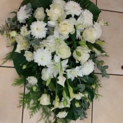 White funeral arrangement