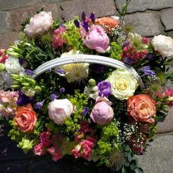 Basket of different flowers