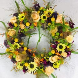 Funeral Wreath in Yellow