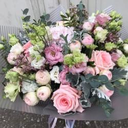 Букет цветов премиум РОЗОВЫЙ