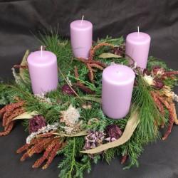 Advent wreath with purple...